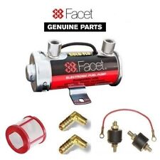 FACET RED TOP FUEL PUMP FOR 200 BHP+ CARBS + 8mm UNIONS + EARTH KIT + MOUNTS