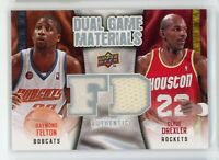 2009-10 Raymond Felton Clyde Drexler Jersey Upper Deck Dual Game Materials