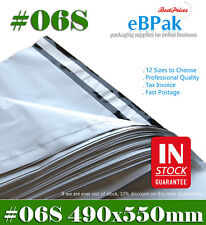 500x Poly Mailer #06S 490x550mm Plastic Courier Mailing Satchel Self Sealing Bag