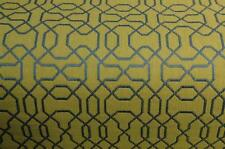 BLUE  GREEN CHAIN LINK CONTEMPORARY UPHOLSTERY FABRIC 4.125  YDS
