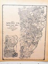 Old Newton County Texas General Land Office Owner Map Biloxi Bon Wier Trotti