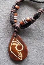 Tibet Bone Happy Face Design Pendant Jewelry