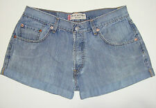 LEVI'S 509 FADED BLUE CUFFED DENIM SHORTS - W33