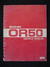 Service Shop Repair Manual Suzuki 1979 OR50 OR 50 S535