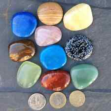 Gemstone worry palm  healing stone.Choose from10 different crystals. Reiki gift