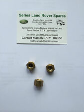 Land Rover Series Petrol Bearmach Exhaust Manifold Brass Stud Nuts x3  BR0761