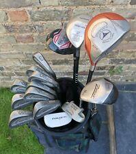Mens Wilson 1200 Tour & TaylorMade Full Set of R/H 15 Golf Beginner Club Set