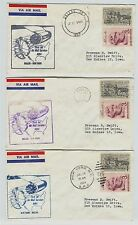 5 different 1959 First Jet Flight Air Mail Service New York Dallas Postal Covers