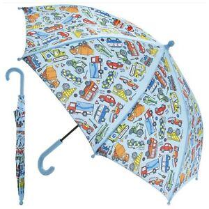 Vehicle Cars Design Kids Children School Outdoor Sunny Rainy Day Boys Umbrella
