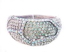 Ab Aurora Clear Crystals Silver Bracelet Wedding Bridal Pagent Fitness Bikini