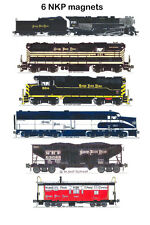 Nickel Plate Road Locomotives and Train set of 6 magnets Andy Fletcher