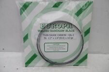 """EUROPA THIN GAUGE CARBON BANDSAW BLADE 561/2"""" X 1/4"""" X 10TPI TO FIT BURGESS BK1"""