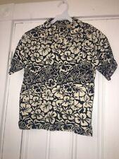 Nordstrom Pine Peak Blues Boys Sz Xl 7x Blue Cream Hawaiian Shirt