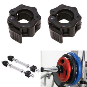 2 x 25mm Weight Lifting Bar Collars Gym Barbell Lock Clamp Buckles h8Y