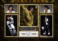 MICHAEL JACKSON - King of Pop - Jacko -  SIGNED -  A4 PHOTO PRINT MEMORABILIA