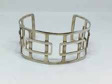 Large Solid Silver Wide Bangle Bracelet
