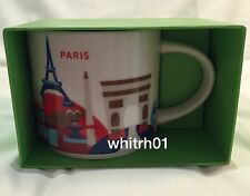 Starbucks Paris YAH Mug France Eiffel Tower Baguette Hat Coffee Cup You Are Here
