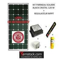 Kit panneau solaire 120w  12 V Black booster pour bateau