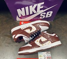 New listing Size 10 - Nike SB Dunk Low OG QS x Supreme Barkroot Brown* Brand New In Hand*