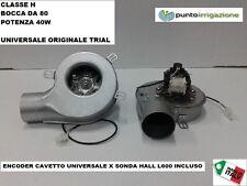Estrattore fumi stufa pellet ventilatore + encoder universale 40W d.80 classe H