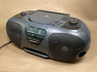 Magnavox Boombox Cd Radio Cassette Recorder Player W/ Dynamic Bass Boost Tested