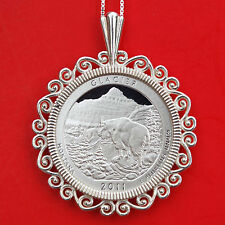 2011 Montana Glacier National Park Silver Proof Quarter 925 Sterling Necklace