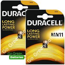 2 x Duracell MN11 6V Alkaline Battery - 11A A11 GP11A L1016 CX21A E11A Security