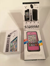 Apple iPhone 4S - 32GB - White (Unlocked) Smartphone and LifeProof Case