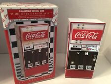 Vintage Coca Cola Coke Die Cast Metal Vending Machine Light Up Musical Bank Box