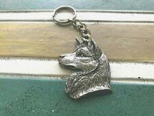 Jewelry 1 Siberian Husky Dog in Fine Pewter Key Chain All New.