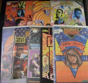 ROCK N ROLL REVOLUTIONARY MUSIC LOT 9 COMICS HEAVY METAL ANTHRAX HALEN 1989 FN+
