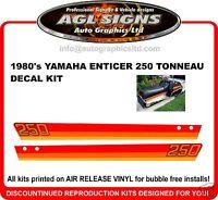 1980 'S YAMAHA ENTICER ET 250 TONNEAU DECAL KIT  reproductions graphics