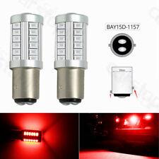 2x Red 1157 BAY15D P21/5W 33SMD LED Bulb Light Car Tail Turn Signal Brake Stop