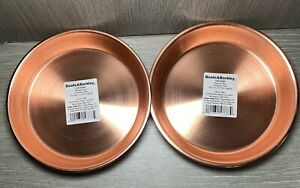 2 Boots & Barkley Cat Small Dog Food Water Bowls Copper Color Rubber Bottom New