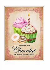 Vintage Cup Cake Metal Sign Paris Cafe Vintage Style Bakers Sign Cake Diner Sign