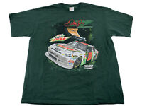Dale Earnhardt NASCAR T Shirt Diet Mountain Dew 88 Chase Authentics Green  XL