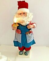 """Telco Motion-ettes of Christmas Santa Claus With Work Apron Animated 24"""" Figure"""