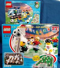 LEGO 3425 3406 Soccer Team Transport & U.S. National Team Cup Edition new in box