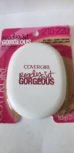 Covergirl Ready Set Gorgeous Powder Foundation 215-220 medium, shine control.