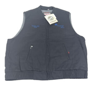 Indura Ultra Soft FR Flame Resistant ENTERGY TEXAS Black Full Zip Vest XL Tall