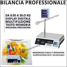 BILANCIA DIGITALE  LCD  MULTIFUNZIONE DI PRECISIONE DOPPIO DISPLAY  FINO A 30 KG