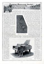 Klavier Grotrian Steinweg Braunschweig XL Reklame 1913 Historie Werbung