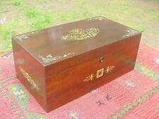 Antique Mahogany Aesthetic Movement Locking Jewelry Box with Key ~Glowing Patina