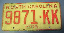 1968 North Carolina License Plate