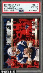 2002 Leaf R & S Standing Ovation Tom Brady New England Patriots PSA 8 NM-MT