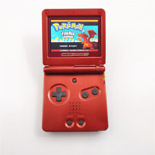 Whole Red Game Boy Advance GBA SP AGS 101 Brighter Backlit Console + Game Card