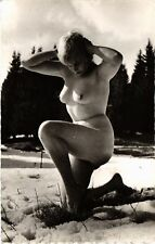 CPA femme. NUDE RISQUE real photo (500186)