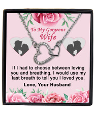 Gift For Wife Necklace Pendant Gift Birthday Christmas Anniversary Love Husband