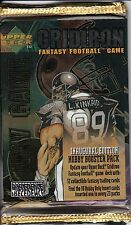 GRIDIRON FANTASY FOOTBALL TRADING CARD GAME INAUGURAL EDITION HOBBY BOOSTER PACK