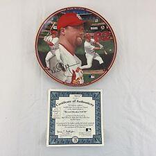 Bradford Exchange Mark McGwire Record Breaker Collector Plate 9-8-98 COA